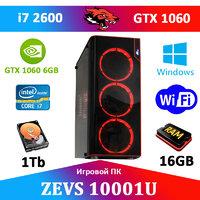 Игровой Монстр ПК ZEVS PC10001U i7 2600 + GTX 1060 6GB