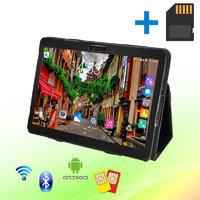 Планшет-Телефон MiXzo ME1023 3G 10.1 дюймов 1GB RAM 16 GB ROM GPS + Чехол-книжка + Карта памяти 64GB