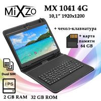 Планшет MiXzo MX1041 4G IPS 32GB + Чехол-клавиатура + Карта памяти 64GB