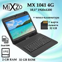 Планшет MiXzo MX1041 4G IPS 32GB + Чехол-клавиатура + Карта памяти 32GB