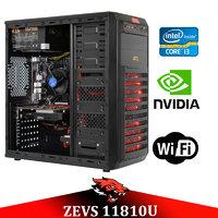 Супер игровой ПК ZEVS PC 11810U i3 8100 8GB +GTX 1050 TI +Игровая клавиатура!