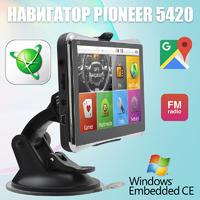 Навигатор Pioneer Pi5420 5'' Win CE 6.0 8GB ROM + Карты