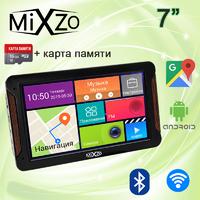 ЛУЧШИЙ! GPS навигатор MiXzo MX760M DVR 1/16GB AV/FM/BT/Wi-Fi + Карта 16GB