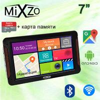ЛУЧШИЙ! GPS навигатор MiXzo MX760M DVR 1/16GB AV/FM/BT/Wi-Fi + Карта 32GB