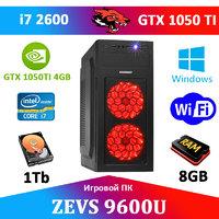 Игровой Монстр ПК ZEVS PC 9600U i7 2600 + GTX 1050TI 4GB + SSD