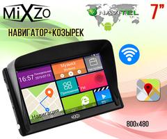 """Навигатор MiXzo MX-760i 7"""" 1/16 FM AV Android 4.4 + Козырек"""