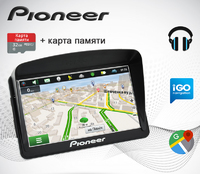 "GPS навигатор Pioneer Pi7215 7"" Win CE 6.0 8GB + Козырек + Карта 32GB"