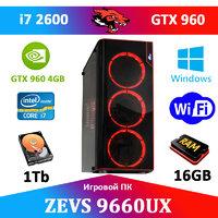 Игровой ПК ДЛЯ СТРИМА! ZEVS PC9660UX i7 2600 + GTX 960 4GB