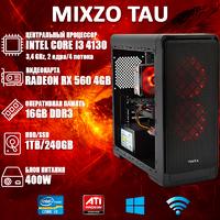 Игровой ПК MiXzo TAU i3 4130 + RX 560 4GB SSD 240GB
