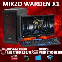 Недорогой Cовременный Игровой ПК MiXzo WARDEN X1 Athlon X4 870K + GTX 750TI 2GB + Монитор 18.5''