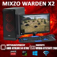 Cовременный Игровой ПК MiXzo WARDEN X2 Athlon X4 870K + GTX 750TI 2GB + Монитор 18.5''