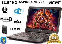 Ультрабюджетный ноутбук Acer Aspire One 722 11.6'' 160GB + WEB камера