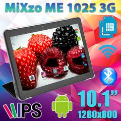 Планшет MiXzo ME1025 3G 16GB + Чехол- вкладыш
